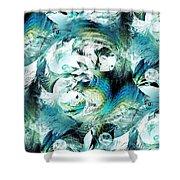 Moonlight Fish Shower Curtain