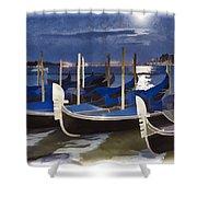 Moonlight Gondolas - Venice Shower Curtain