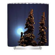 Moonlight In Lapland Shower Curtain