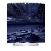Moonlight Shower Curtain by Jorge Maia