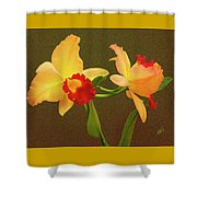 Moonlight Lady Orchid Shower Curtain