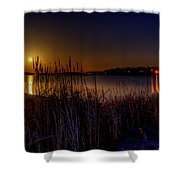 Moonlight On The Lake Shower Curtain