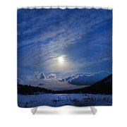 Moonlight Over Tahoe Meadows Shower Curtain