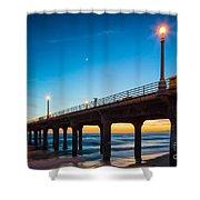 Moonlight Pier Shower Curtain