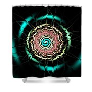 Moonlight Pond Shower Curtain