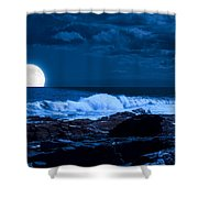 Moonlight Sail Shower Curtain