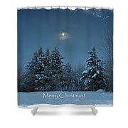 Moonlight Snow Shower Curtain