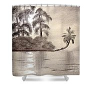 Moonlight Wakulla Springs Shower Curtain
