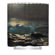 Moonlight. Wood Island Light Shower Curtain
