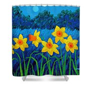 Moonlit Daffodils  Shower Curtain