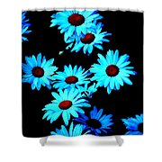 Moonlit Daisies Shower Curtain