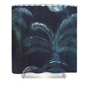 Moonlit Palms Shower Curtain