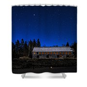 Moonlit Starscape At The Old Smokehouse Shower Curtain