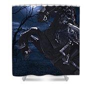 Moonlit Warrior Shower Curtain