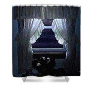 Moonlit Window Shower Curtain