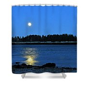 Moonrise Acadia National Park Shower Curtain