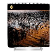 Moonrise After Sunset Shower Curtain by Kaye Menner