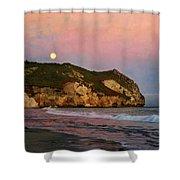 Moonrise At Avila Beach Shower Curtain