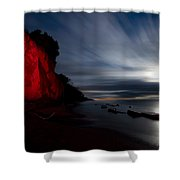 Moonrise At Clearville Beach Shower Curtain