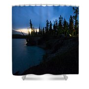 Moonrise At Wabasso Campground Shower Curtain