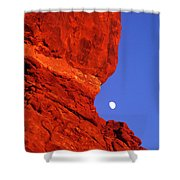 Moonrise Balanced Rock Arches National Park Utah Shower Curtain