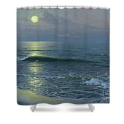 Moonrise Shower Curtain by Guillermo Gomez y Gil