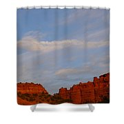 Moonrise In Sedona Shower Curtain
