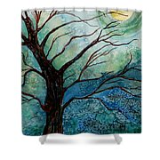 Moonrise In The Wild Night Shower Curtain
