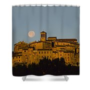 Moonrise Over Anghiarri Shower Curtain