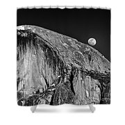 Moonrise Over Half Dome Shower Curtain