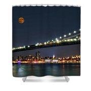 Moonrise Over Manhattan Shower Curtain