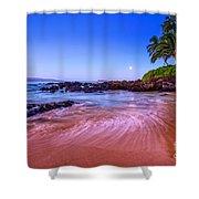 Moonrise Over Maui Shower Curtain