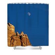Moonrise Over Sandstone Shower Curtain