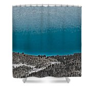 Moonrise Over The Mountain Shower Curtain
