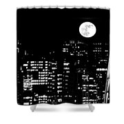 Moonrise Seattle Shower Curtain