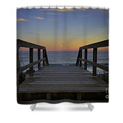 Moonrise V Shower Curtain