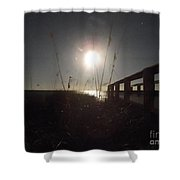 Moonrise With Boardwalk 2 Shower Curtain