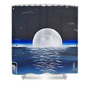 Moonset Shower Curtain