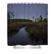 Moonset Over Bon Secour Bayou Shower Curtain