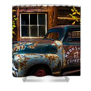 Moonshine Express Shower Curtain