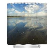 Moonstone Beach Reflections Shower Curtain