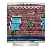 Moore Block-1896 With Gargoyle-like Features In Pipestone-minnesota  Shower Curtain