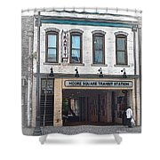 Moore Square Transit Station Shower Curtain