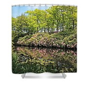 Moore State Park Water Reflections Shower Curtain