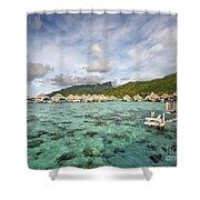 Moorea Lagoon Resort Shower Curtain