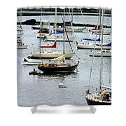 Moored At Kittery Point Maine Shower Curtain