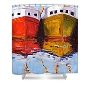 Moored Shower Curtain