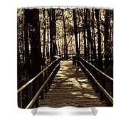 Moores Creek Battlefield  Nc Swam Bridge  Shower Curtain
