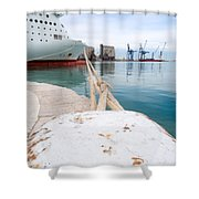 Mooring Shower Curtain