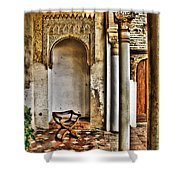 Moorish Chair And Alcove At The Alhambra Shower Curtain